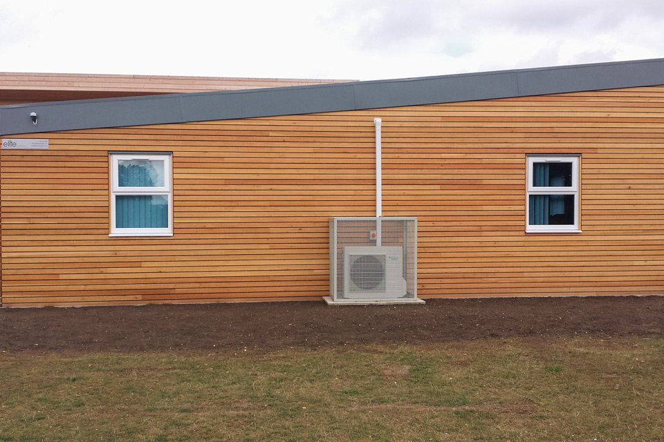 A modular classroom at Flitch Green Primary
