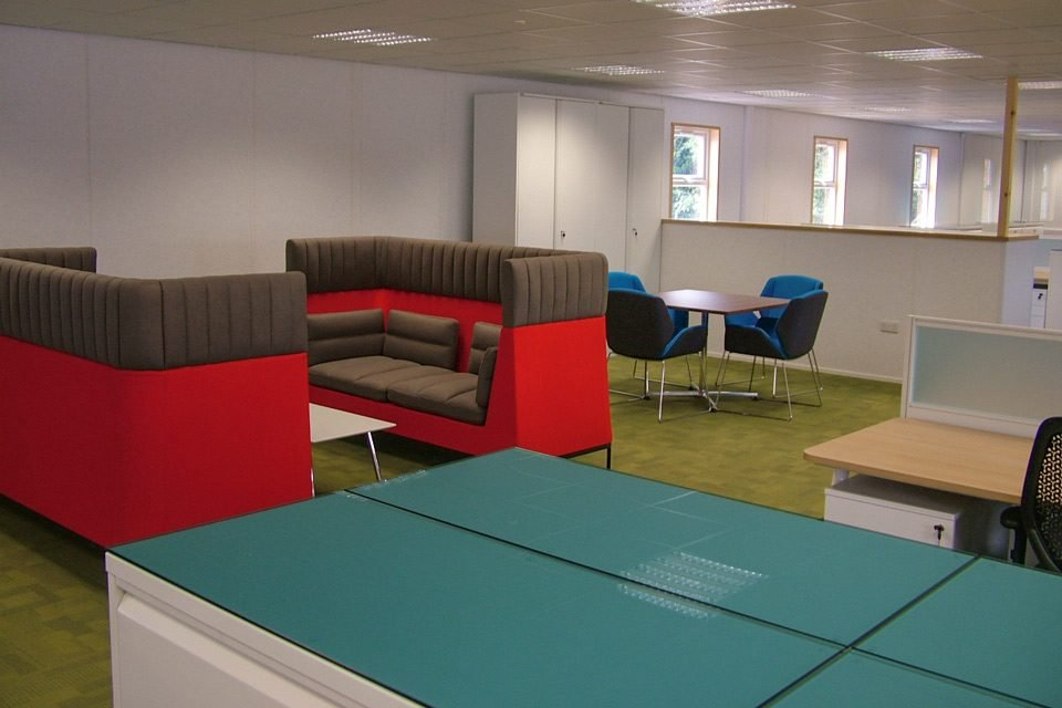 The seating area at the National Grid offices