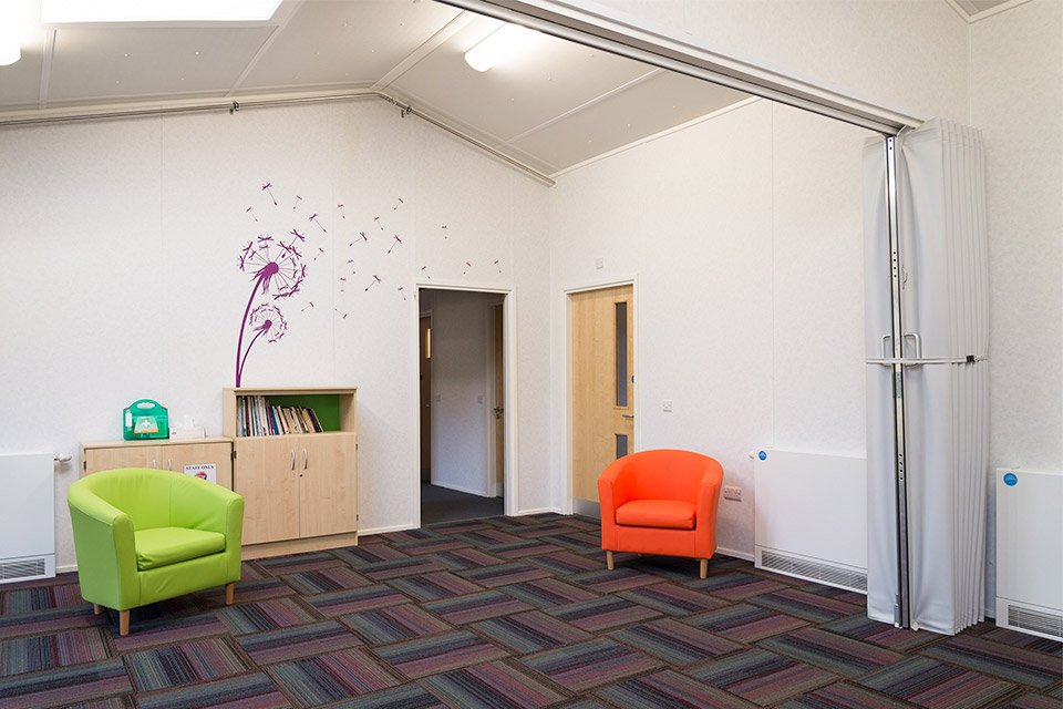 An internal view of the Stubbington Study Centre