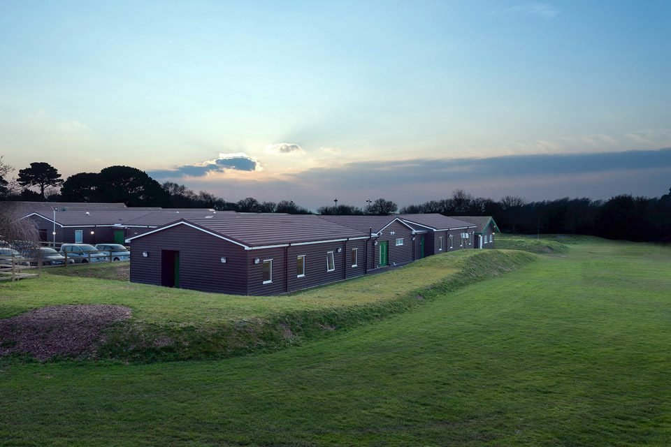 Stubbington modular building and the surrounding area