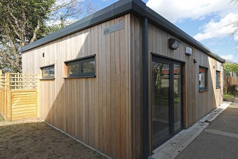 Hamford primary academy exterior cladding