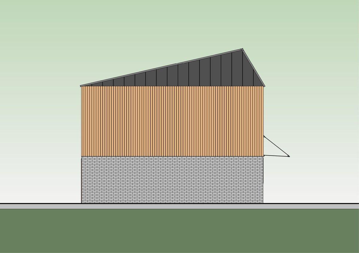 Terrace side elevation